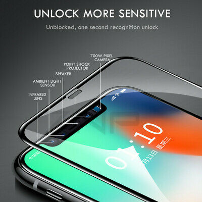 for iPhone 11 XR Tempered Glass Full Screen Protector Cover 1OD Black Temper New