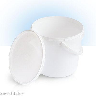 1 x 5L  Eimer  | WEISS | leer | Kunststoffeimer mit Deckel | Lebensmittelecht