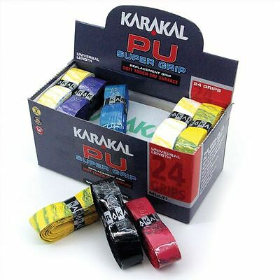 Karakal Multi Colour PU Super Replacement Grip (24 pack)