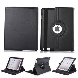 NEW BLACK 360 ROTATING PU LEATHER CASE COVER STAND FOR IPAD AIR Regina Regina Area image 1