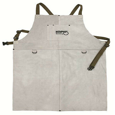 38142mw Memphis Welding Leather Bib Apron With Front Pocket 24in X 42in New