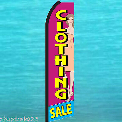 Clothing Sale Swooper Flag Tall Flutter Feather Advertising Sign Banner 25-3036