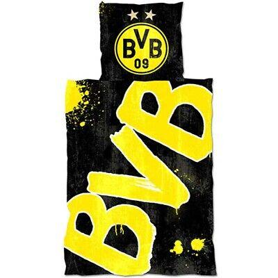 BVB Bettwäsche Glow in the dark BVB Konturen nachleuchtend