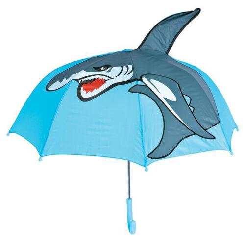 "28"" Shark Umbrella Sun Rain Weather Protection Kids Beach Accessories"