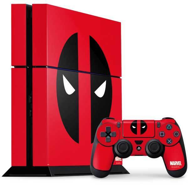 Marvel Deadpool PS4 Console and Controller Bundle Skin - Deadpool Logo Red