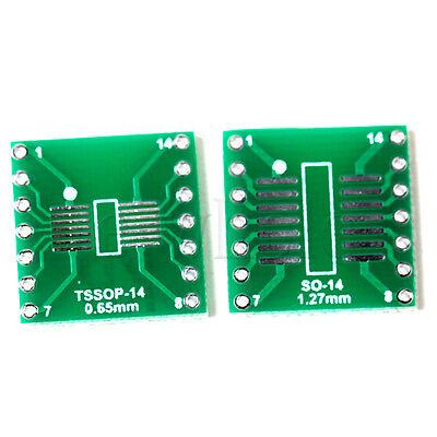 5pcs Sosopsoicssoptssopmsop14 To Dip 14 Adapter Pcb Board Converter Hm