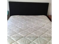 Double Bed | Black | with Mattress for Sale