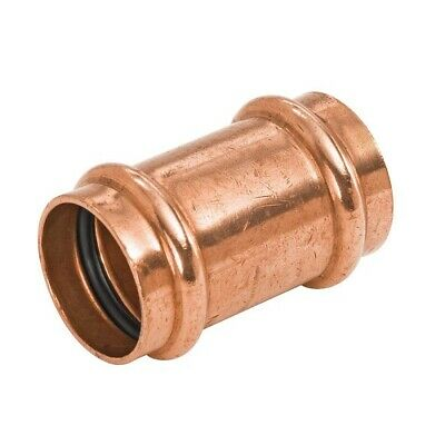 Lot Of 10 - 34 Propress Copper Coupling With No Stops - Ppcl0034