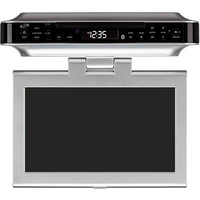 ilive IKTD1037S Under the Cabinet DVD Player w/ FM Radio, CD Player - Silver