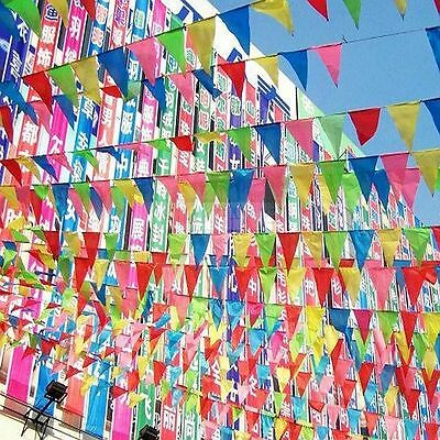 Colorful Pennant Banner (50 M Colorful Triangle Flag Pennant String Banner Festival Party Holiday)