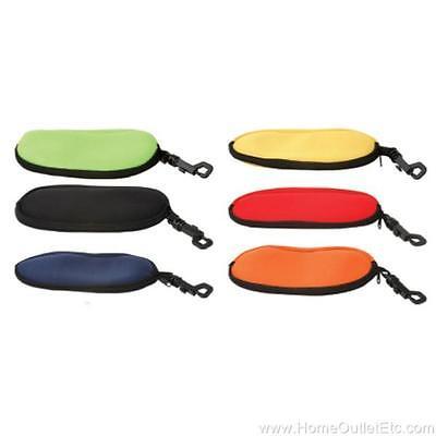 Floating Zipper Neoprene Pouch w/Clip Hook Sunglass/Eyeglass Soft Case (Neoprene Eyeglass Case)