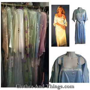 NEW - Satin Nightgown and Long Robe Set