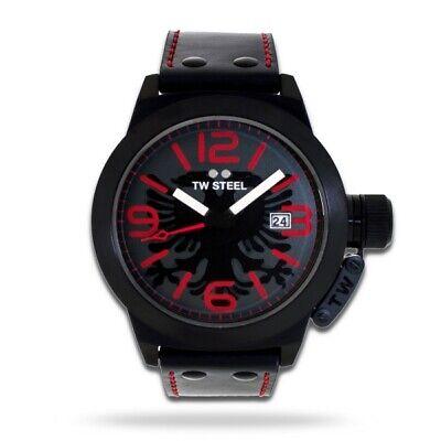TW STEEL Besa Sonderedition Uhr TW-934 Herrenuhr mit albanischen Adler Lederband