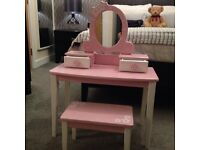 Children's Pink wooden dressing table