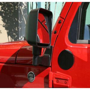 Jeep Wrangler Jk 2007 to 2017 Black Mirror Relocation Brackets Pair  X 11025.04
