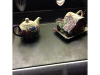 Old tumpton ware tea pot and butter dish new