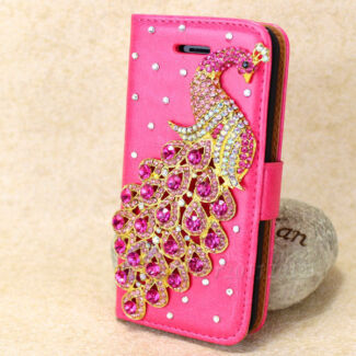 Pink Peacock Leather Wallet Case Cover for Apple iPhone 5 55  Kingsley Joondalup Area Preview