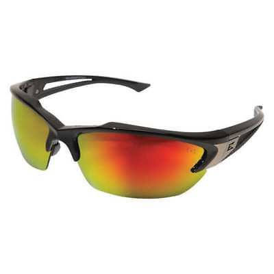 Edge Eyewear Sdkap119 Khor Safety Glasses With Black Frame And Red