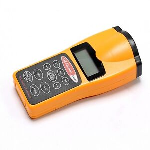 2014 LCD Ultrasonic Laser Meter Pointer + Distance Measurer Range 60FT