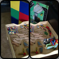 reversible Lego/wooden train table