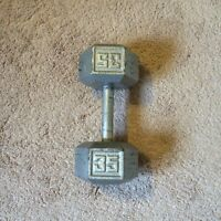 35 pound dumbell