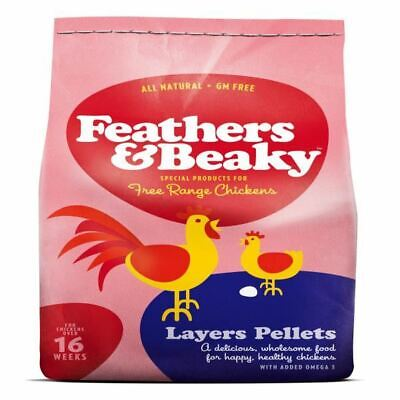 Feathers & Beaky Layers Pellets Chicken Food Birds Poultry Free Range Bulk Bag