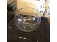 6x glass fish bowls
