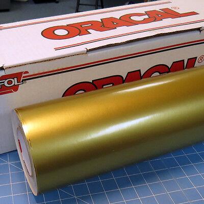 Gold Metallic Oracal 651 1 Roll 24 X 10 Sign Cutting Vinyl