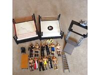 WWE FIGURES AND RINGS