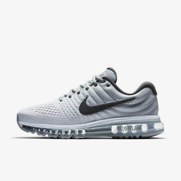 Nike Air Max 2017 White Dark Grey Wolf Grey 849559 101 Men's Running Shoes NEW!