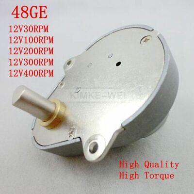 48ge 12v Dc 100rpm Pear-shaped High Torque Geared Gear Box Motor New