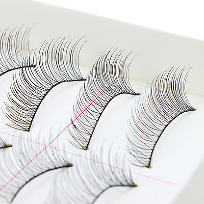 10Pairs Makeup Handmade Natural Fashion Long False Eyelashes Eye Lashes Sparse