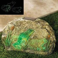 Magic Motion Solar Frog Yard Ornament Garden Stone Brand New