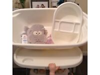 Baby bath & top & tail tray