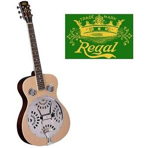 NEW* REGAL RESOPHONIC GUITAR - 119180405 - STUDIO SERIES ROUNDNECK NATURAL