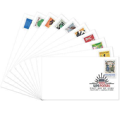 USPS New WPA Posters Digital Color Postmark set of 10