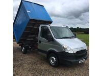 Iveco daily tipper 62 reg no vat ideal tree surgeon rubbish clearance etc 3500kg
