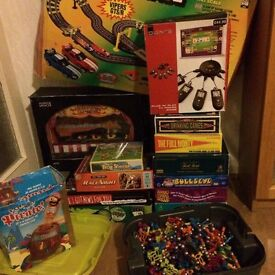 Bundle of games for the family (Trivial Pursuit, Bullseye, Have I Got News For You, kids games)