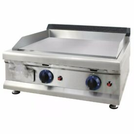 Brand New Commercial Bottle Gas Griddle HoTPate Grill 60cm With 2 Burner nEW
