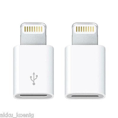 2x Apple MicroUSB Adapter iPhone 5 + 6 / Plus iPod iPad Air Mini - wie MD820ZM/A