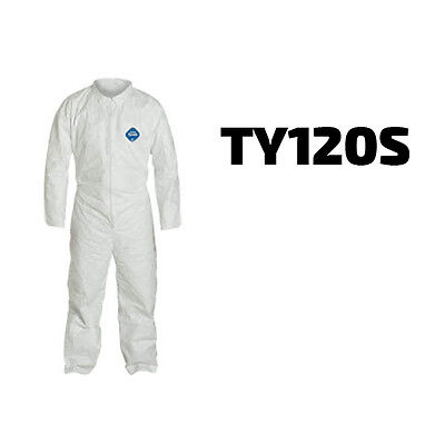Dupont Disposable Tyvek White Coverall Open Wrists Ankles Suit - Ty120s