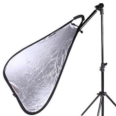 Extend Photo Studio Light Reflector Holder Arm Stand Mount Bracket Swivel Head