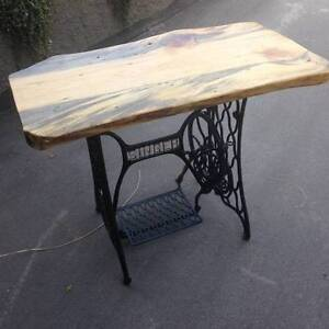 live edge sewing machine hall table/desk