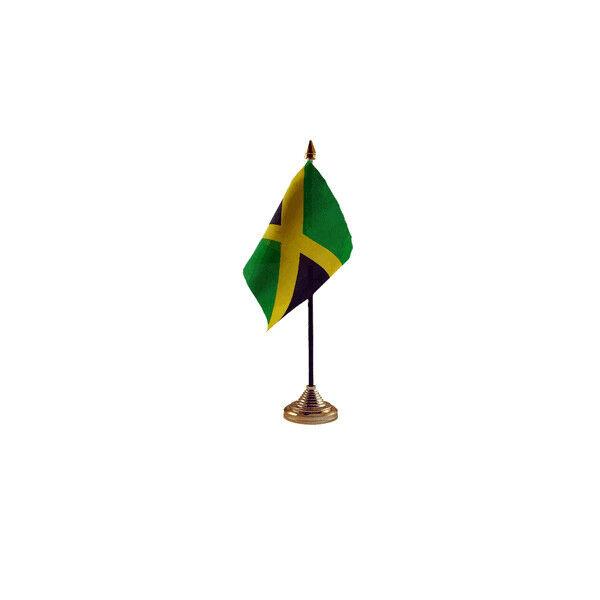 Jamaica Table Desk Flag - 10 x 15 cm National Country Hand Caribbean