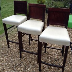 Three Bar Stools in used condition