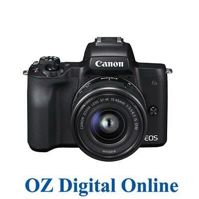 Canon EOS M50 Mirrorless Vlogging Camera Kit with EF-M 15-45mm Lens, Black>