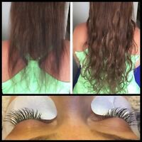 Thanksgiving weekend special! Hair and eyelash extensions