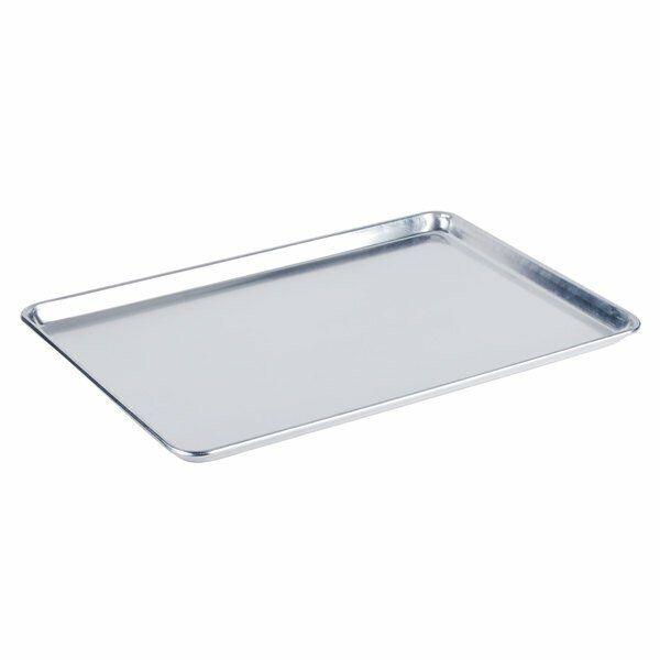 Sheet Pan Bun Aluminum Rim Baking Kitchen Restaurant Solid Rectangle Silver New
