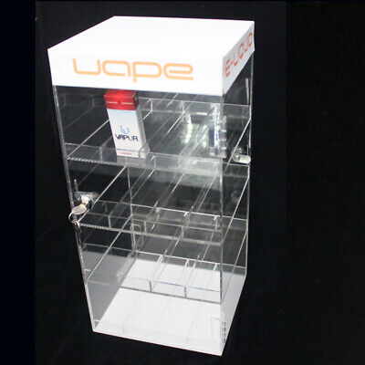 New Acrylic Locking Display Case - Retail Store Display - Juice Bottle Cabinet
