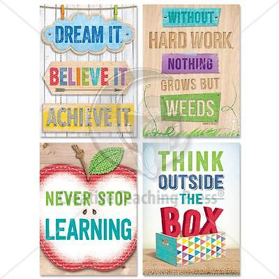 CTP 4236 Upcycle Style U Motivation Stickers NEW CLASSROOM DECORATIVE